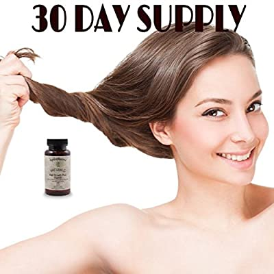 White Arrow Hair Growth Vitamin Supplement with 5000mcg Biotin to Support Faster Hair Growth & Hair Loss Prevention, Hair Skin & Nails, 28 Ingredients for Healthier Hair Hair Growth Support.