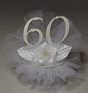 Amazon.com: 60th Wedding Anniversary Cake Topper: Kitchen ...