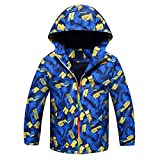ACESTAR Windproof Light Rain Jacket Coat Fleece Lined Spring Jacket Windbreaker