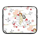 Cute Cupid Sends Love Laptop Storage Bag - Portable Waterproof Laptop Case Briefcase Sleeve Bags Cover