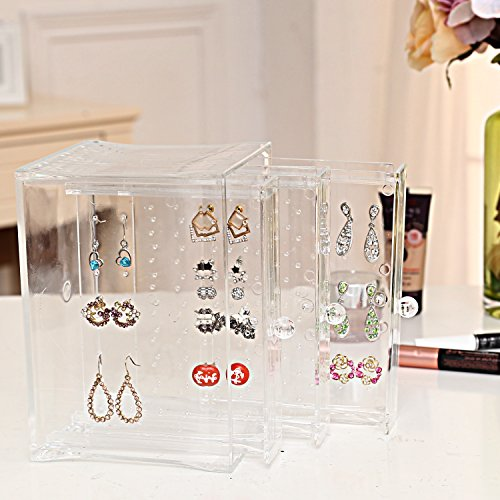 Acrylic Vertical Drawers Earring Organizer