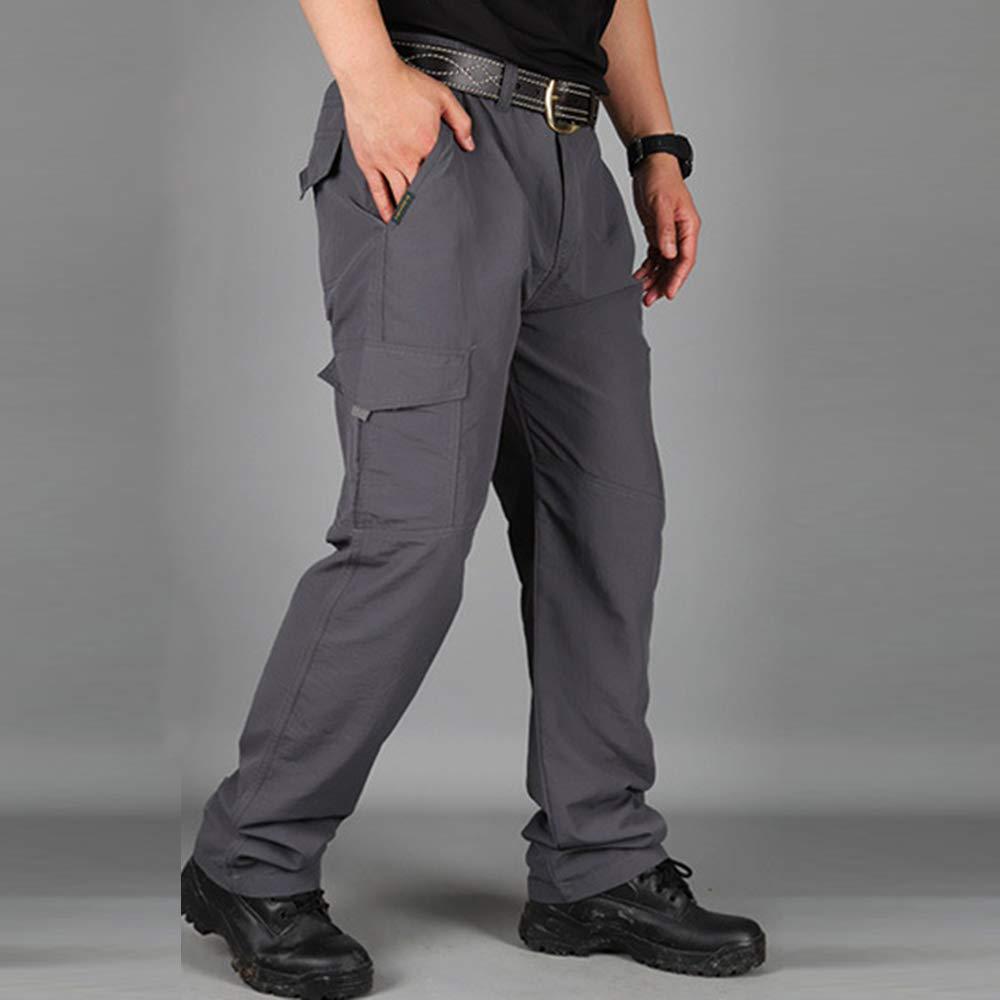 Heflashor Pantalon Randonn/ée Homme Cargo Softshell Pantalon Imperm/éable Outdoor Coupe-Vent S/échage Rapide Pants Respirant Pantalon Tactique pour Sport Ski Camping Randonn/ée
