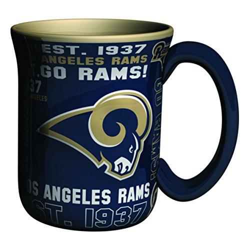 NFL Los Angeles Rams Sculpted Spirit Mug, 17-ounce