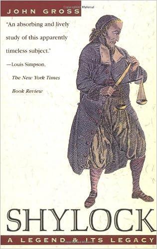 Shylock: A Legend and Its Legacy: Amazon co uk: John Gross