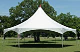 40-Foot by 40-Foot White High Peak Hexagon Frame Style Party Tent for Weddings, Graduations, and Events