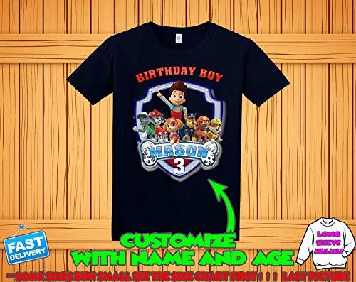 Paw Patrol Birthday Shirt Custom Tshirt Party Shirts Family Matching T