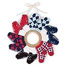 Mud Pie Baby Boy Infant Preppy Sock Wreath Set