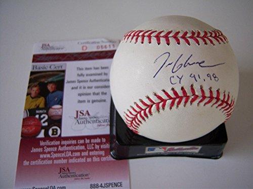 (Tom Glavine Signed Ball - Braves Cy 9198 coa - JSA Certified - Autographed Baseballs)