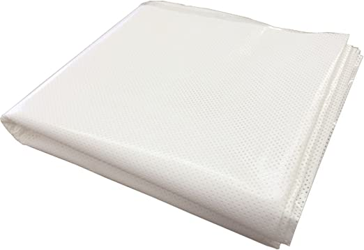 """24/"""" x 25 ft Dot Matrix Static Cling Perforated Graphic Window Film White"""