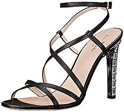 kate spade new york Women's Fiandra Dress Sandal,  Black Nappa, 8.5 M US