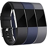 Wepro Bands Compatible with Fitbit Charge 2, 3-Pack