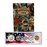 1984 Year Coin Set and Greeting Card : 34th Birthday or Anniversary Keepsake