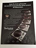 1976 Technics Direct Drive Turntables Magazine Print Advertisement