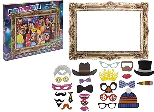 Pms 25pc Photo Booth Selfie Props W/picture Frame - Adult - Booth Own Make Your Photo