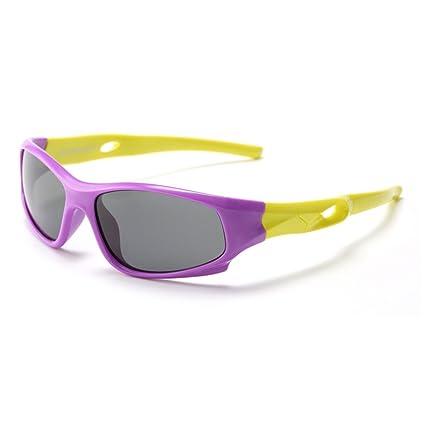 Aclth Niños Gafas de Sol Deportivas polarizadas Ligeras para niños y niñas con protección UV para