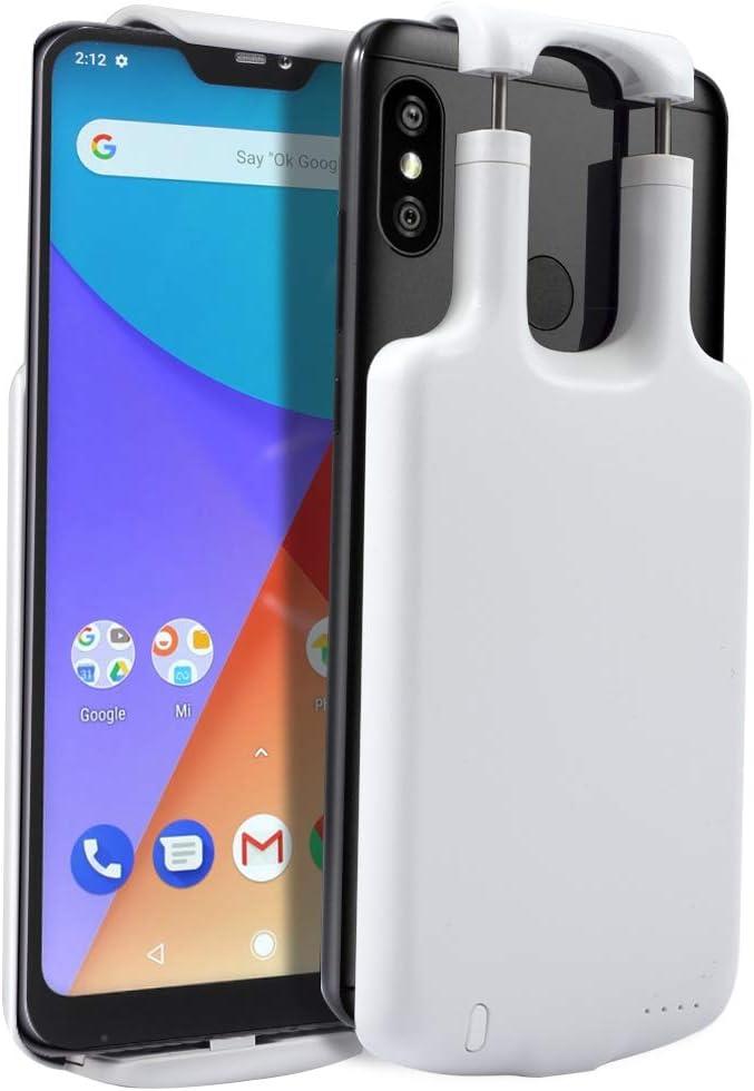 CASEWRS Funda Batería para Xiaomi Mi A2 Lite/Redmi 6 Pro 5000mAh ...
