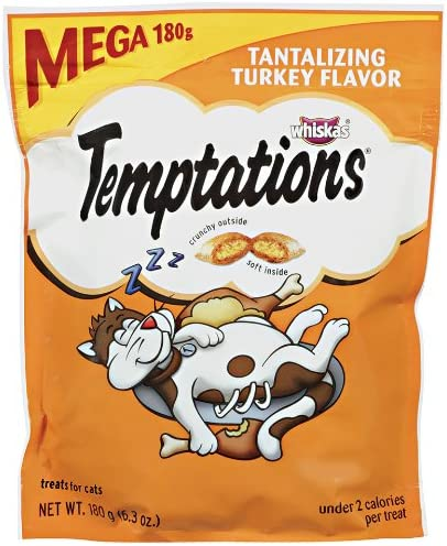 Temptations Classic Treats For Cats Tantalizing Turkey Flavor 6.3 Ounces Pack Of 5