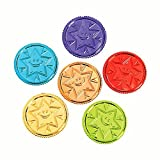 "144 ~ Bright Idea Brilliant Star Plastic Coins ~ 1 1/8"" ~ New ~ Teacher Rewards"