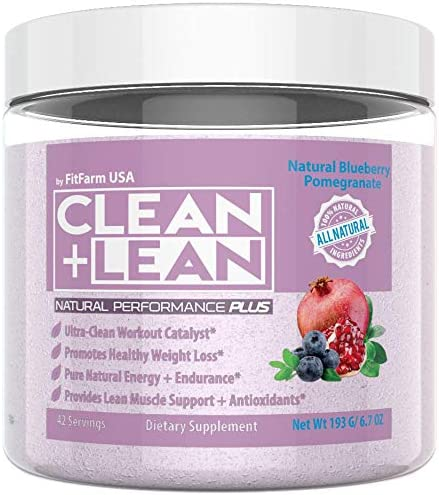 "Clean+Lean Natural Performance""Plus"" by FitFarm USA: Ultra-Clean Workout Catalyst + Healthy Weight Loss Blend"