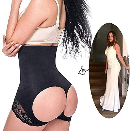 SAYFUT Women Shapewear Butt Lifter Waist Cincher Boy Short Tummy Control Panty, Black, XL-2XL