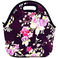 Shubb Lunch Boxes for Women, Neoprene Insulated Lunch Tote Bags for Kids Boys Girls - Water Resistant - Folable - with Zipper
