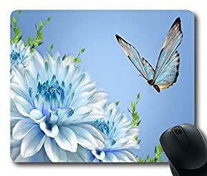 "Blue CG Butterfly Custom Gaming Mousepad Durable Mouse Mat in 220mm*180mm*3mm (9""*7"") 0204018 by icecream design"