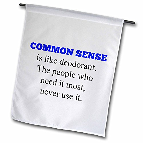 """3dRose Common Sense Like Deodorant, People Who Need It Most, Dont Use It - Garden Flag, 12 by 18"""""""