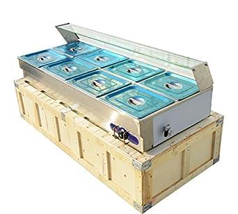 110v 8-well Commercial Bain-marie Buffet Food Warmer Steam Table