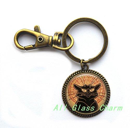 Charming Locket Necklace,Beautiful Locket Necklace,Le Chat Noir Black Cat Jewelry Cat Lover Jewelry Belle Epoque Locket Pendant