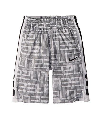 NIKE Boys Elite Vent Basketball Training Short (Small, Cool Grey/Black)