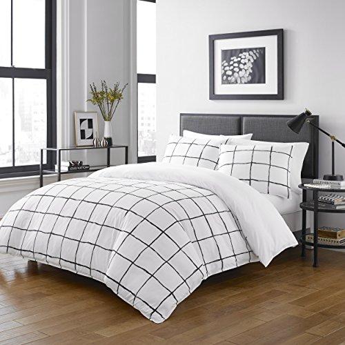 City Scene USHSFN1044740 Bedding, Full/Queen, White ()