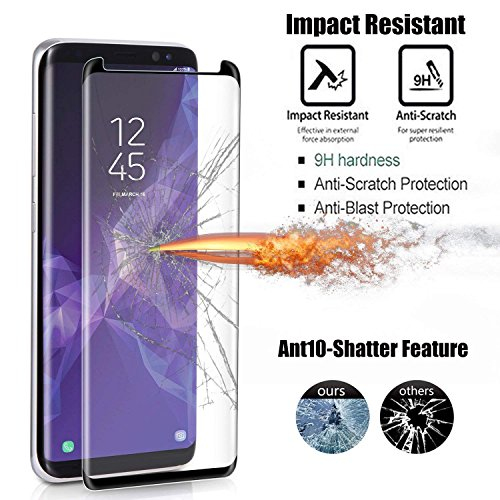 [2 - Pack] Samsung Galaxy S9 Plus Screen Protector, OLINKIT [9H Hardness][Anti-Fingerprint][Ultra-Clear][Bubble Free] Tempered Glass Screen Protector Galaxy S9 Plus by OLINKIT (Image #4)