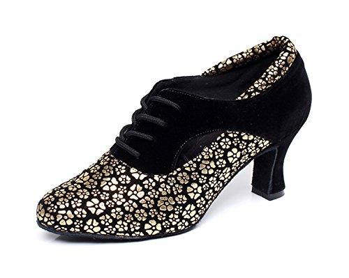 Gold De JSHOE heeled Ballroom Sandalias Modern Tango Our43 Baile UK7 Shoes Altos Jazz heeled7cm Para Latin Mujer 5 Tacones Chacha Samba Zapatos Salsa Floral EU42 Satin faHHq5wF