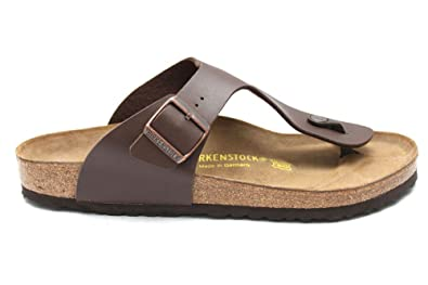 a432a05e8c9 G0715B Birkenstock Ramses Mens Brown Leather Toe Post Summer Sandals Size  Uk 9