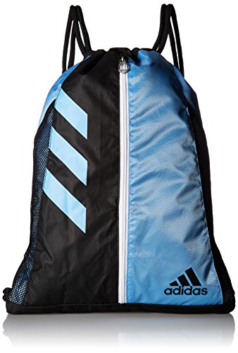 Cinch Nylon (adidas Team Issue Sackpack, One Size, Collegiate Light Blue/Black/White)