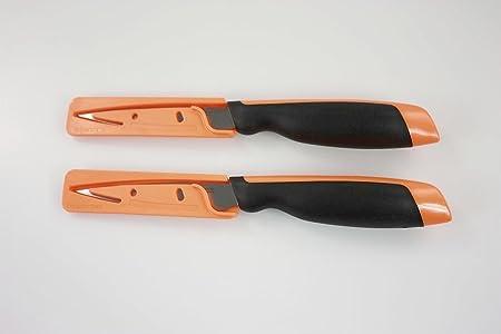 2 orange Messer Gemüsemesser XPert TUPPERWARE Messer Universal-Serie