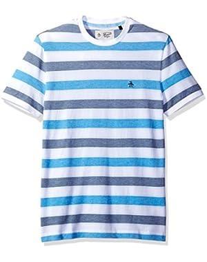 Men's Short Sleeve Birdseye Wide Stripe Tee
