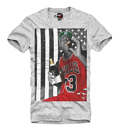 Cigars Usa - E1SYNDICATE MENS T-SHIRT MICHAEL JORDAN US DREAM TEAM BASKETBALL CIGAR USA GREY S/M/L/XL