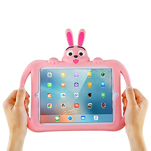 Cute iPad Pro 10.5 Case with Handle Silicone Cartoon Rabbit