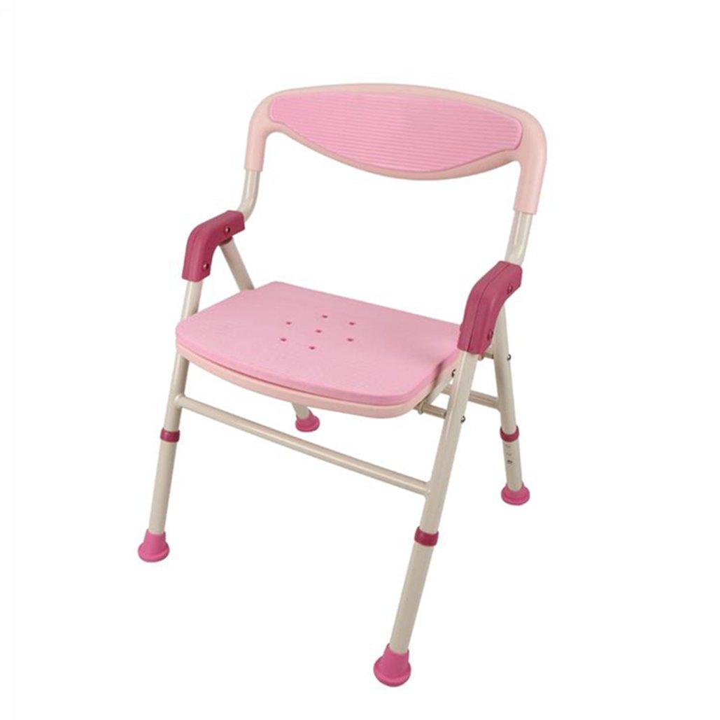 最新発見 シャワー/バススツール高齢者/障害者のためのアルミニウム合金シャワーシートスツール背もたれとハンドルバスタブ付き3つの高さで調節可能なシャワーチェアAnti-Slip Mats Heavy Pink Heavy Pink Duty in Pink Duty 100kg B07F3345FC, 大成町:096b18f1 --- acupunctureworks-ie.access.secure-ssl-servers.org