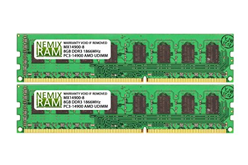 Desktop Sdram Memory Dimm (NEMIX RAM EXTREME AMD 16GB (2 X 8GB) DDR3 SDRAM 1866MHz PC3-14900 PC DESKTOP MEMORY for AMD AM3 & AM3+ CPU CHIPSET)