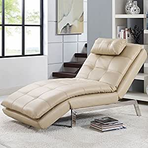 Vienna Viena Multi-positional Chaise Tumbona, Color Crema ...