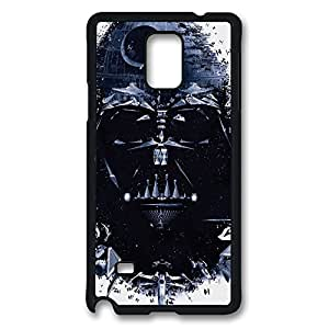 Galaxy Note 4 Case, Darth Vader Star Creativity Design Print Pattern Perfection Case [Anti-Slip Feature] [Perfect Slim Fit] Plastic Case Hard Black Covers for Samsung Galaxy Note 4