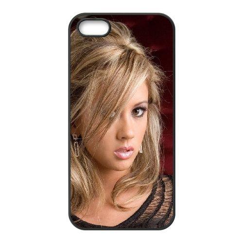 Blonde Face Eyes 82677 coque iPhone 4 4S cellulaire cas coque de téléphone cas téléphone cellulaire noir couvercle EEEXLKNBC23652