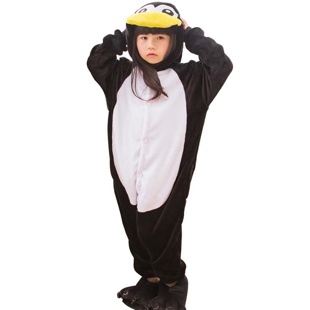 Shorven Boys Girls Pajamas Costume Animal Hoodie Onesies Penguin Onesies-Penguin