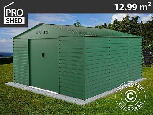 Dancover Caseta de Jardin 3, 4x3, 82x2, 05m ProShed®, Verde ...