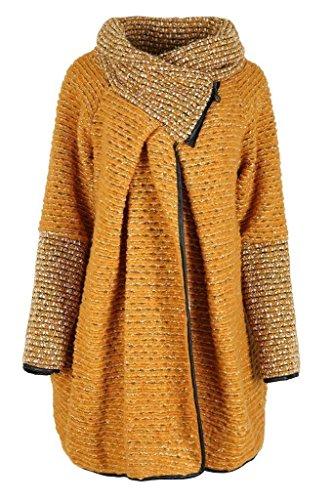 Comfiestyle - Abrigo - Abrigo - para Mujer Mostaza