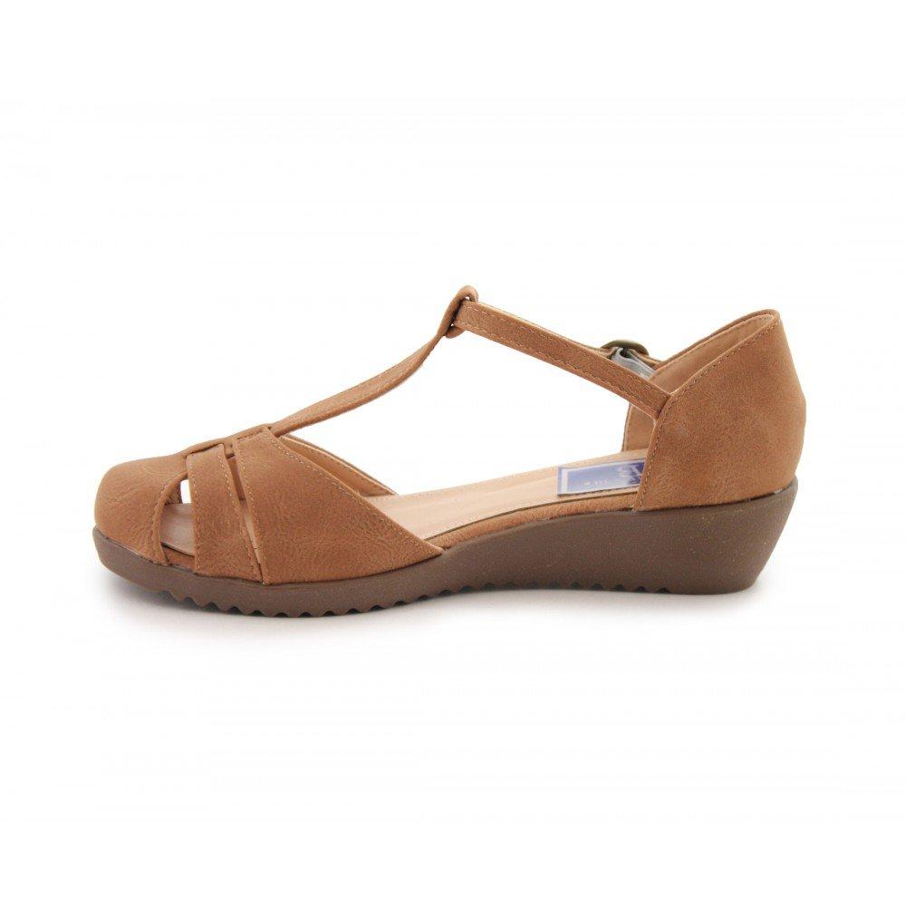 Cuña Camel De Sandalias Vestir Benavente Baja Zapato Cómodo Zapatos 6709 35Lq4ARj
