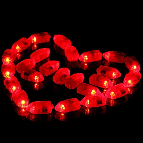 Neo LOONS 100pcs/lot 100 X Red Led Flash Ball Lamp Balloon Light Long Standby time for Paper Lantern Balloon Light Party Wedding Decoration