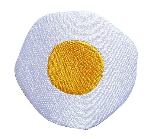 Cute Pretty Sunny Side Up Fried Egg for Children Kids Bags Jackets Jeans Embroidered Iron on Patch Free Shipping